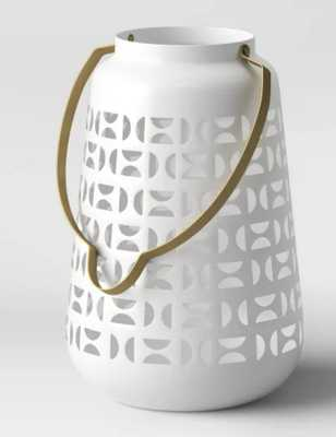 Metal Perforated Outdoor Lantern White - Project 62™ - Target