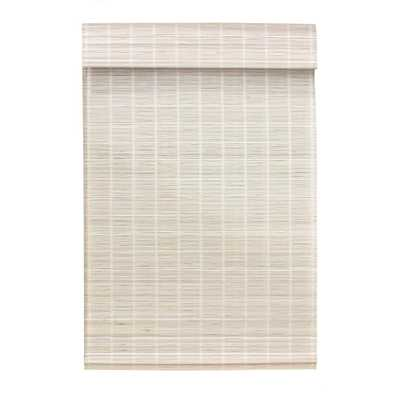 Radiance White Washed Cordless Matchstick Bamboo Roman Shade - 29 in. W x 64 in. L (Actual Size: 28.5 in. W x 64 in. L) - Home Depot