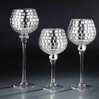 3 Piece Glass Hurricane Set - Wayfair