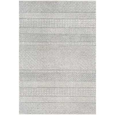 Pittsfield Hand-Tufted Wool Gray Area Rug, 8 x 10 - Wayfair
