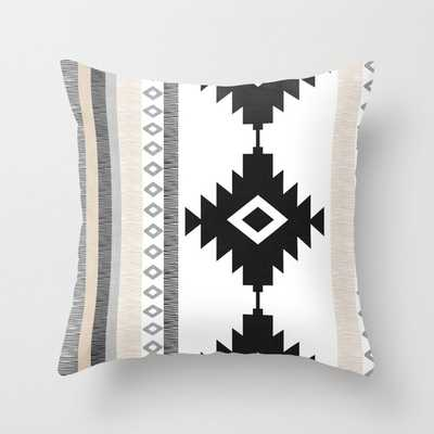 "Pueblo in Tan Throw Pillow - OUTDOOR - Cover (16"" X 16"") With Pillow Insert - Society6"