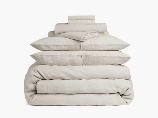 Linen Double Up Bundle, King, Bone, - Parachute