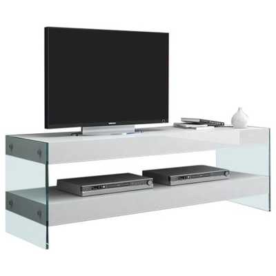 J&M Furniture Cloud TV Base - White High Gloss - Hayneedle