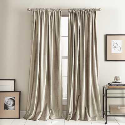 """Modern Knotted Solid Room Darkening Rod Pocket Curtain (Set of 2) - 84"""" - AllModern"""