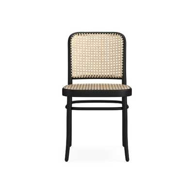 Ton #811 Dining Side Chair w/ Natural Cane Seat/Back, Black Grain - Williams Sonoma