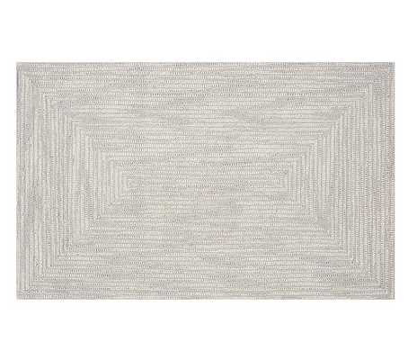 Mercer Rug, 8x10 Feet, Light Gray - Pottery Barn Kids