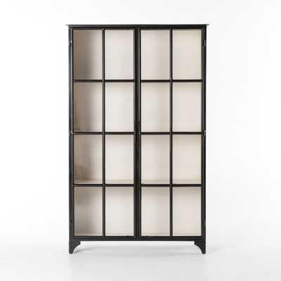 Camila Metal Cabinet in Black - Burke Decor