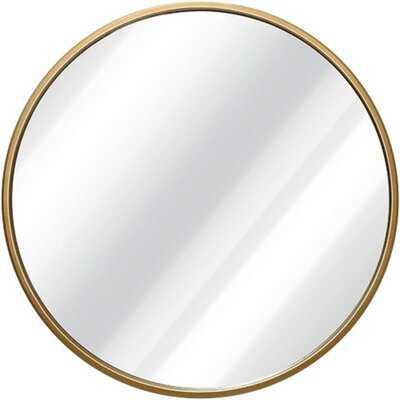 "Asti Gold Scandinavian Handcrafted Wall Mirror - Round (36"") - Home Depot"