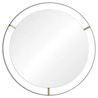 Framed Large Round Wall Mirror - Matte Black - Rogue Décor - Target