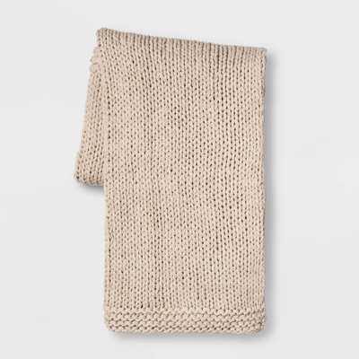 Chunky Knit Throw Blanket - Threshold - Target