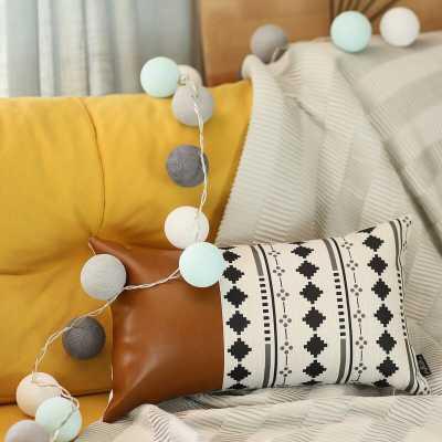 Leer Decorative Geometric Lumbar Pillow Cover - Wayfair