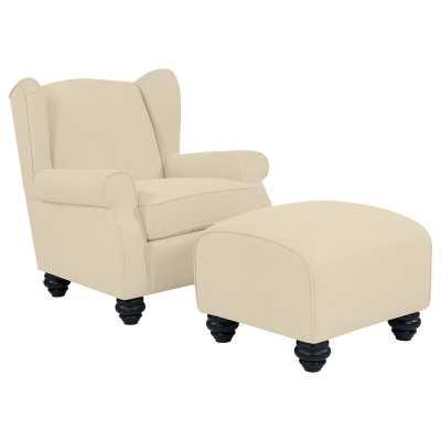 Roselle Wingback Chair and Ottoman - Wayfair