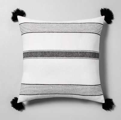 Striped Throw Pillow Sour Cream / Black - Hearth & Hand™ with Magnolia - Target