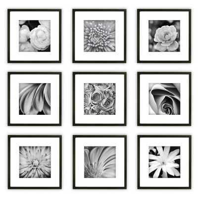 Gallery Perfect 9 Piece Wall Frame Set - Black - Target