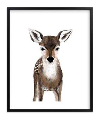 Baby Animal Deer 16 x 20 Black Frame - Minted