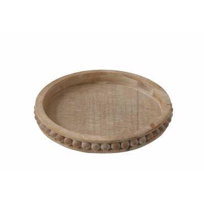 Crofton Round Wood Coffee Table Tray - Wayfair