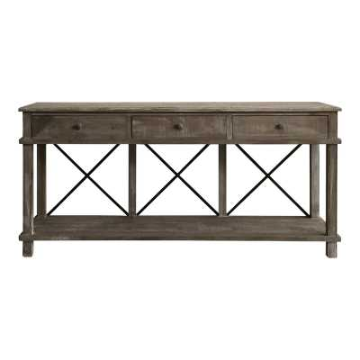 Gracie Oaks Chestertown Timber Console Table - Wayfair
