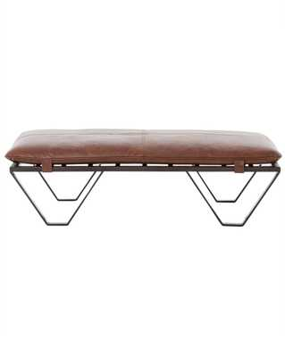 DREW LEATHER OTTOMAN - McGee & Co.