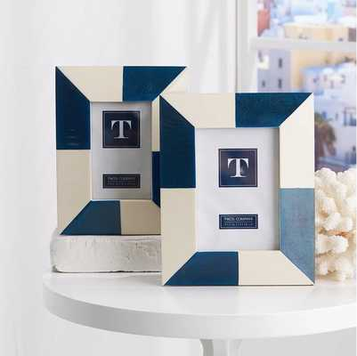 Color Block Photo Frames in Various Sizes design by Twos Company - Burke Decor
