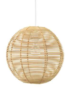 Niamh Continuous Weave Wicker Ball Globe Pendant - Wayfair