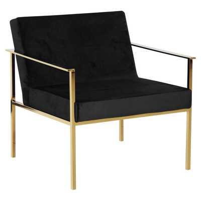 Sagebrook Home Velveteen Arm Chair - Hayneedle