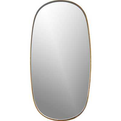 rogue small oval mirror brass - CB2