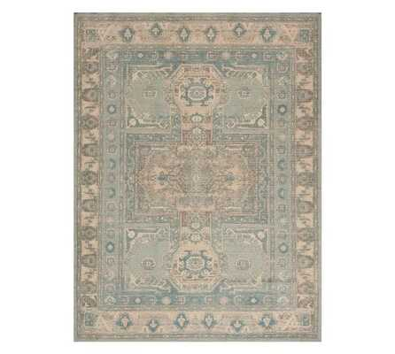 Sloane Printed Rug, 8 x 10', Green Multi - Pottery Barn