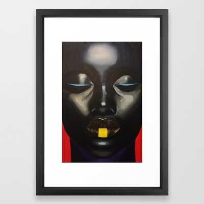 "Solace Framed Art Print- 15"" x 21""- vector black frame - Society6"