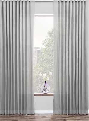 """Custom Ripple fold drapery - set of 2 - 51"""" x 222"""" 1/2 - Shher fabric - Neblina Dove - The Shade Store"""
