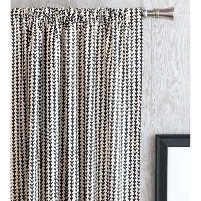 Bowie Chevron Rod Pocket Single Curtain Panel - Wayfair