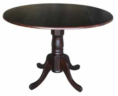 Boothby Drop Leaf Solid Wood Dining Table - Wayfair