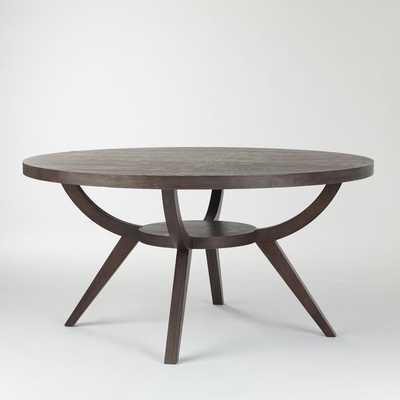 "Arc Base Pedestal Table 60"", Smoke - West Elm"