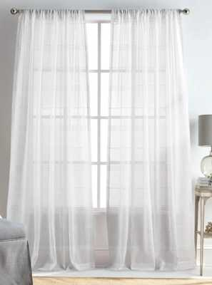 Delicate Striped Rod Pocket Curtain Panels (Set of 2) - Wayfair