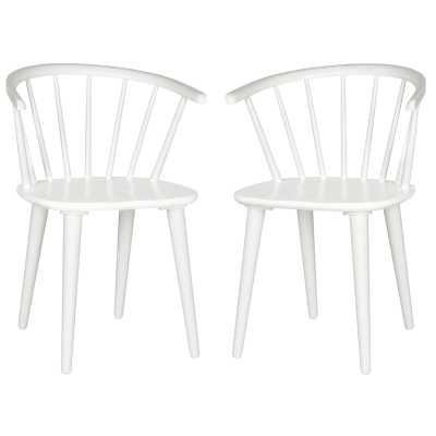 Spindle Solid Wood Windsor Back Arm Chair set of 2 - Wayfair