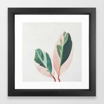 Pink Leaves I Framed Art Print by Cassiabeck - Society6