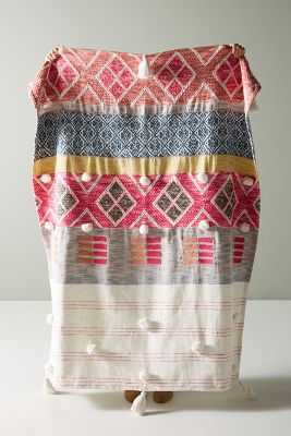Woven Rosewood Throw Blanket - Anthropologie