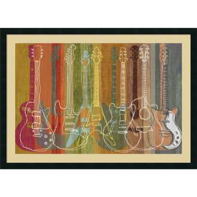 'Guitar Heritage' by M.J. Lew Framed Graphic Art - Wayfair
