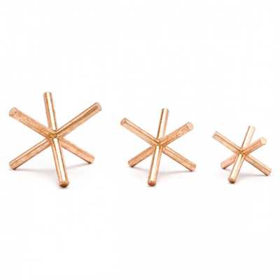 Set Of 3 Asterix Copper - Zuri Studios