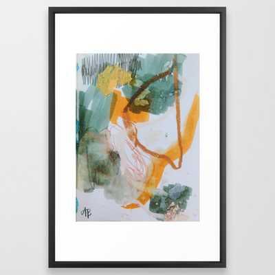 "Steamboat Framed Art Print - 26"" X 38"" - Vector Black - Society6"