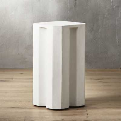 Hex Small Ivory Side Table - CB2