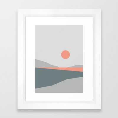 Abstract Landscape 01 Framed Art Print by Theoldartstudio - Society6