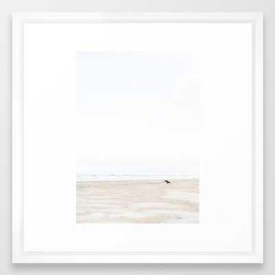 The lone surfer | fine art surf beach photography | Wanderlust at the ocean Framed Art Print - Society6