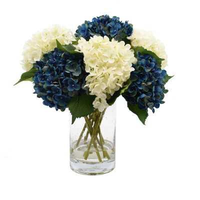 Hydrangeas Floral Arrangements in Vase - Wayfair