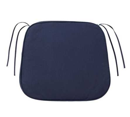 PB Classic Dining Cushion, Small, Solid Navy - Pottery Barn