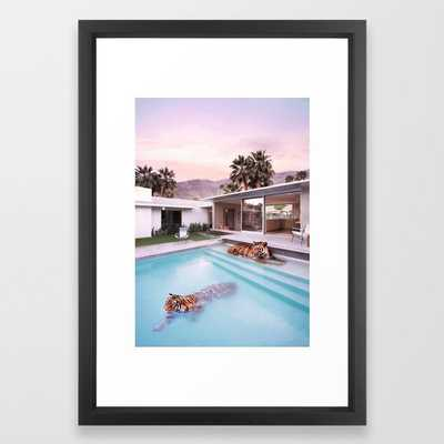 Palm Springs Tigers Framed Art Print by Paul Fuentes Photo - Society6