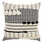 Mina Victory By Nourison Tassel Textured Square Throw Pillow in Black/White - Bed Bath & Beyond
