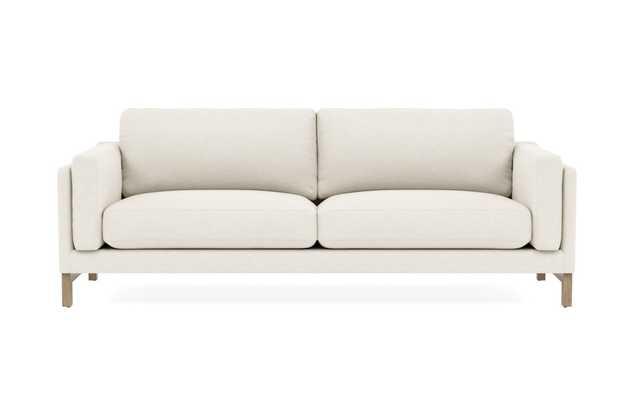 "GABY 2-Seat Sofa-88""- Cirrus- White Wash Oak - Interior Define"