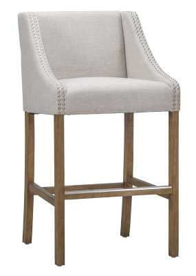 "Fausta Counter Stool - 24"", Beige - Wayfair"