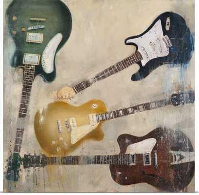 'Guitars II' by Joseph Cates Painting Print - Wayfair