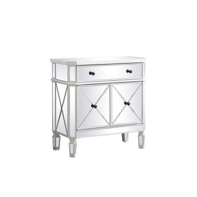 Lela 1 Drawer 2 Doors Mirrored Accent Cabinet - Wayfair